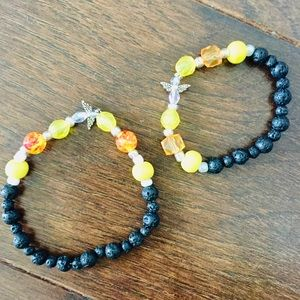 Jewelry - ⭐️5/$30 Mommy & me Lava Bead Bracelet